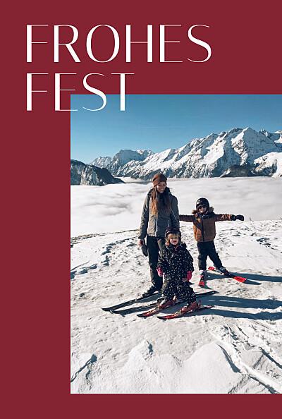 Weihnachtskarten Copenhagen rot finition