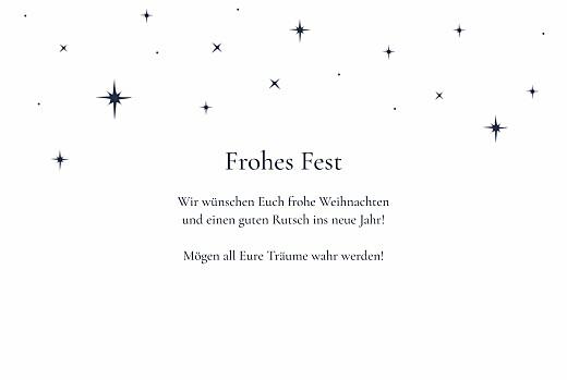 Weihnachtskarten Unter den sternen (gold) klappkarte weiß - Seite 3