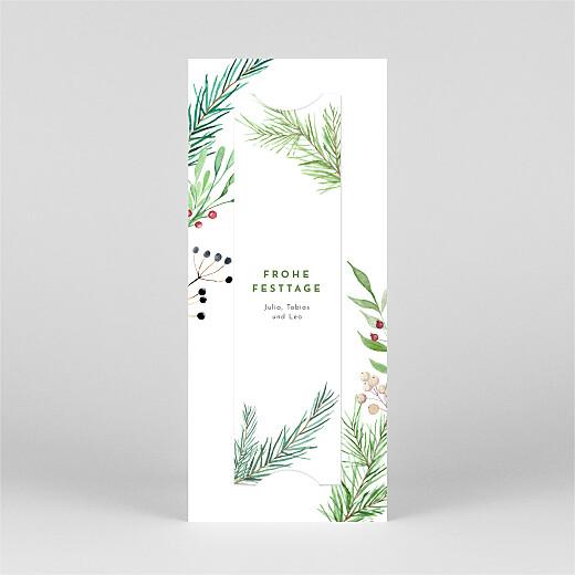 Weihnachtskarten Weihnachtsbeeren (fotostreifen) grün - Ansicht 3