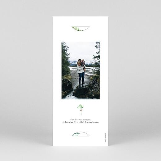 Weihnachtskarten Weihnachtsbeeren (fotostreifen) grün - Ansicht 4