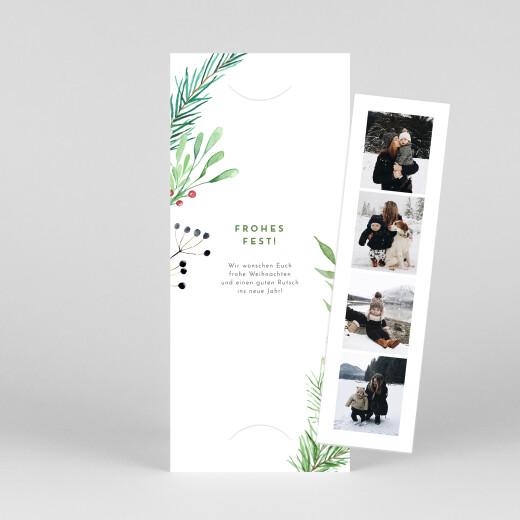 Weihnachtskarten Weihnachtsbeeren (fotostreifen) grün - Ansicht 1