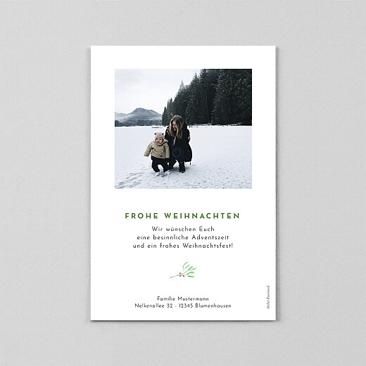 Weihnachtskarten Weihnachtsbeeren (transparentpapier) weiß - Ansicht 3