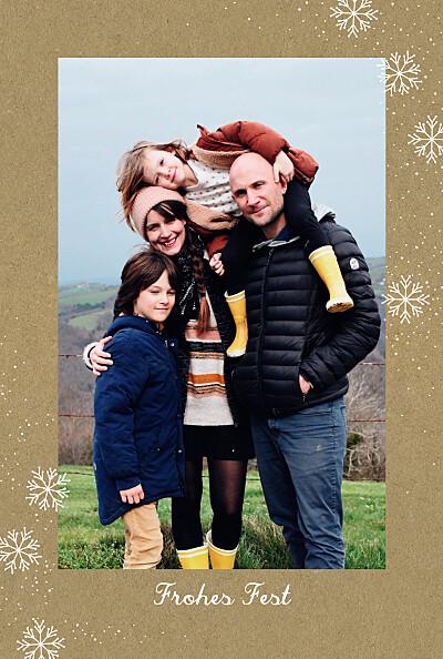 Weihnachtskarten Flocon de kraft finition