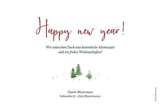 Weihnachtskarten Weihnachtswald weiß - Seite 2