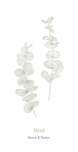 Menükarte Eukalyptuszweige grün