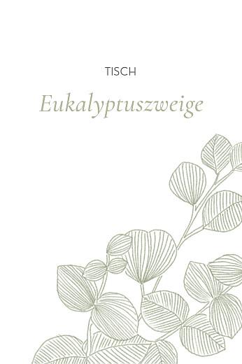 Tischkarten Hochzeit Eukalyptuszweige grün