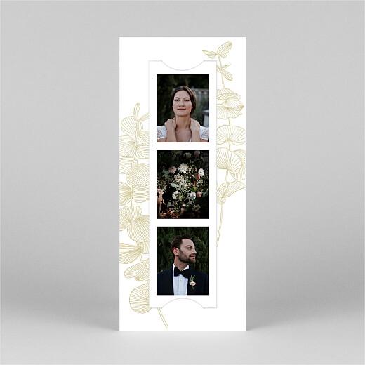 Dankeskarten Hochzeit Eukalyptuszweige (fotostreifen) beige - Ansicht 2