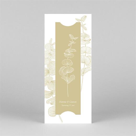 Dankeskarten Hochzeit Eukalyptuszweige (fotostreifen) beige - Ansicht 3