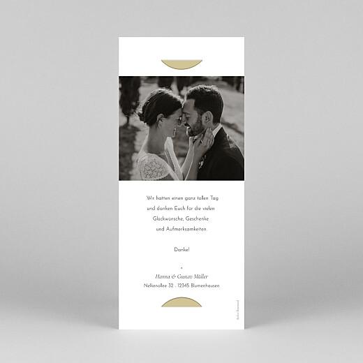 Dankeskarten Hochzeit Eukalyptuszweige (fotostreifen) beige - Ansicht 4
