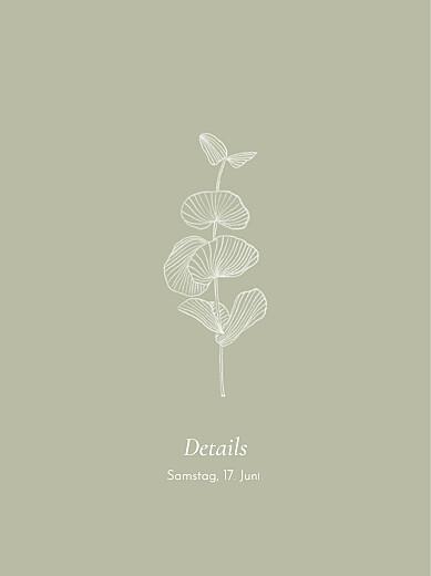 Beilegekarte Eukalyptuszweige grün