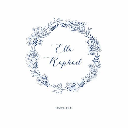 Hochzeitseinladungen Wiesenblume (4 pages) blau