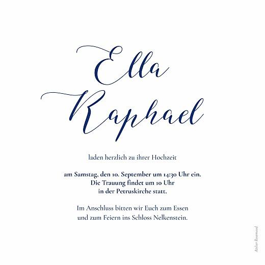 Hochzeitseinladungen Wiesenblume (4 pages) blau - Seite 3