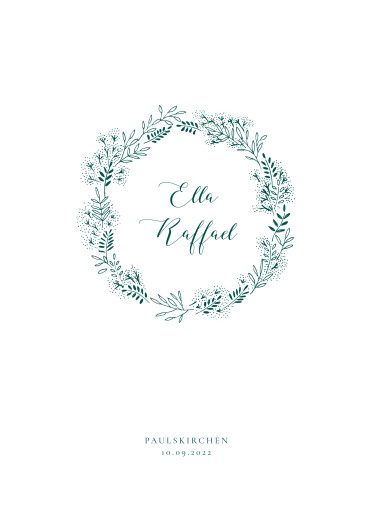 Kirchenheft Hochzeit Wiesenblume grün