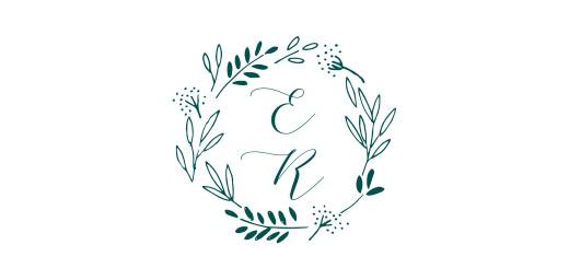 Platzkarte Wiesenblume grün