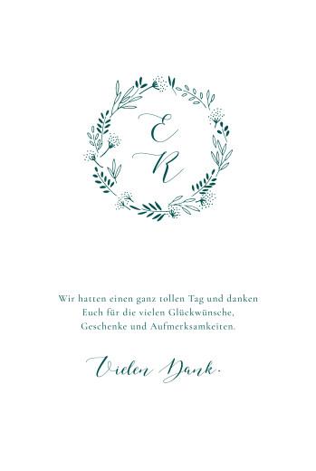 Dankeskarten Hochzeit Wiesenblume grün