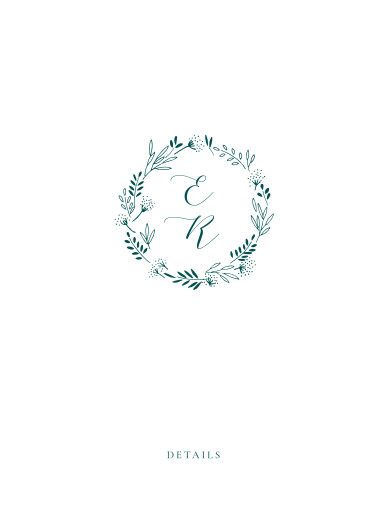 Beilegekarte Wiesenblume grün