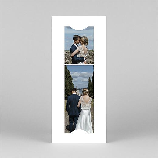 Dankeskarten Hochzeit Wiesenblume (fotostreifen) grün - Ansicht 2
