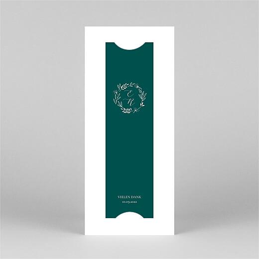 Dankeskarten Hochzeit Wiesenblume (fotostreifen) grün - Ansicht 3