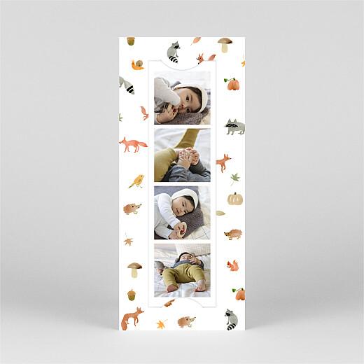 Geburtskarten Waldtiere (fotostreifen) weiß - Ansicht 2