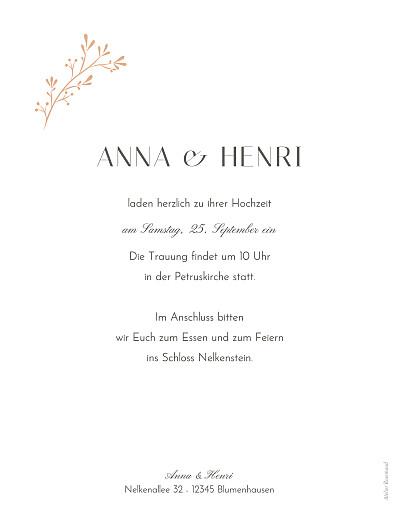 Hochzeitseinladungen Sommerzweige orange - Seite 2