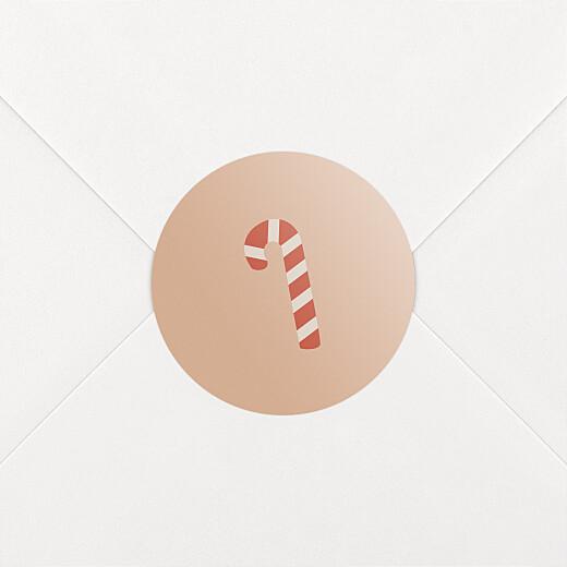 Aufkleber Weihnachten O tannenbaum zuckerstange rosa - Ansicht 2