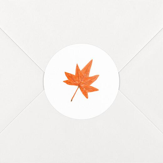 Aufkleber Geburt Herbstoutfit weiß - Ansicht 2
