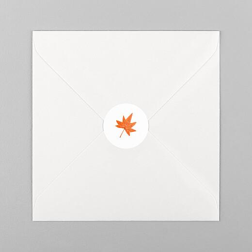 Aufkleber Geburt Herbstoutfit weiß - Ansicht 1
