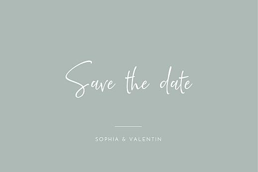Save-the-Date Karten Zeitgeist grau