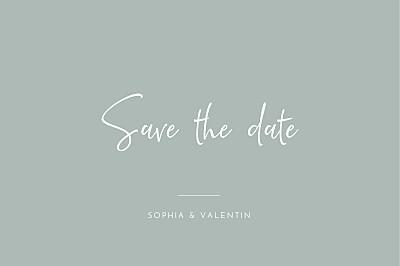 Save-the-Date Karten Zeitgeist grau finition