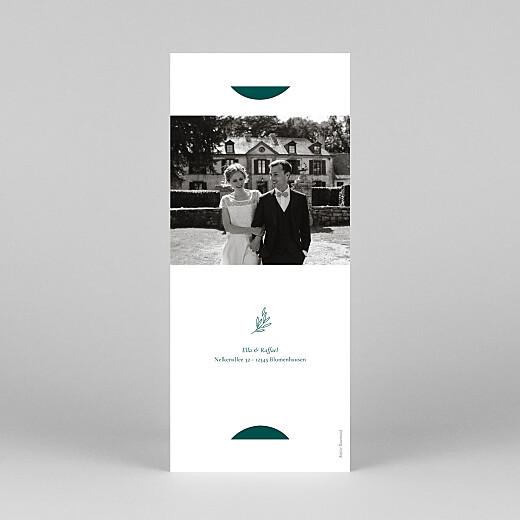 Dankeskarten Hochzeit Wiesenblume (fotostreifen) grün - Ansicht 4