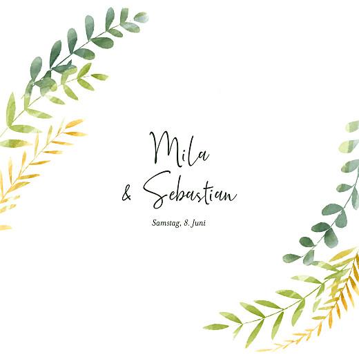 Hochzeitseinladungen Flora (klappkarte) gold grün