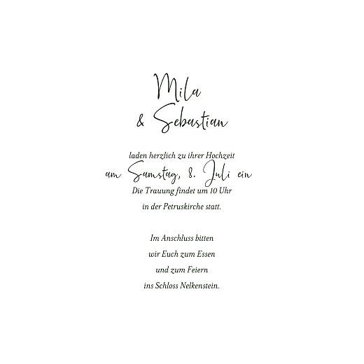 Hochzeitseinladungen Flora (klappkarte) gold grün - Seite 3