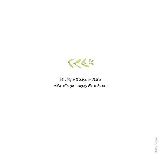 Hochzeitseinladungen Flora (klappkarte) gold grün - Seite 4