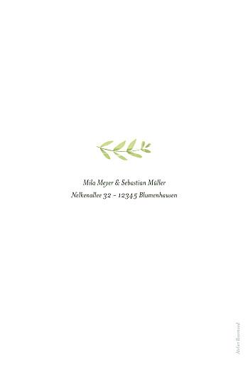 Hochzeitseinladungen Flora (gold) grün - Seite 2