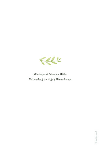 Hochzeitseinladungen Flora grün - Seite 2