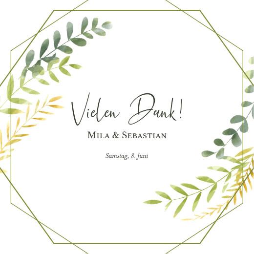 Dankeskarten Hochzeit Flora grün