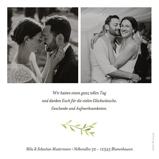 Dankeskarten Hochzeit Flora grün - Seite 2