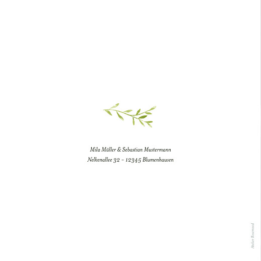 Dankeskarten Hochzeit Flora (gold) grün - Seite 4