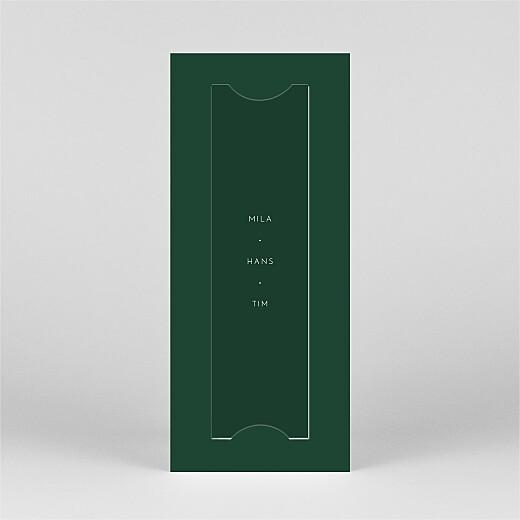 Weihnachtskarten Elegant tannenbaum (duo) grün - Ansicht 3