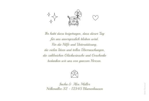 Dankeskarten Hochzeit Piktogramme weiß - Seite 2