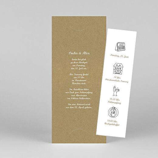 Hochzeitseinladungen Piktogramme (fotostreifen) kraft - Ansicht 1