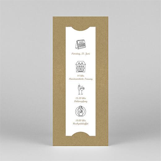 Hochzeitseinladungen Piktogramme (fotostreifen) kraft - Ansicht 2