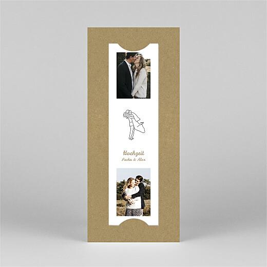 Hochzeitseinladungen Piktogramme (fotostreifen) kraft - Ansicht 3