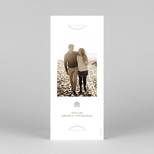 Hochzeitseinladungen Piktogramme (fotostreifen) kraft - Ansicht 4