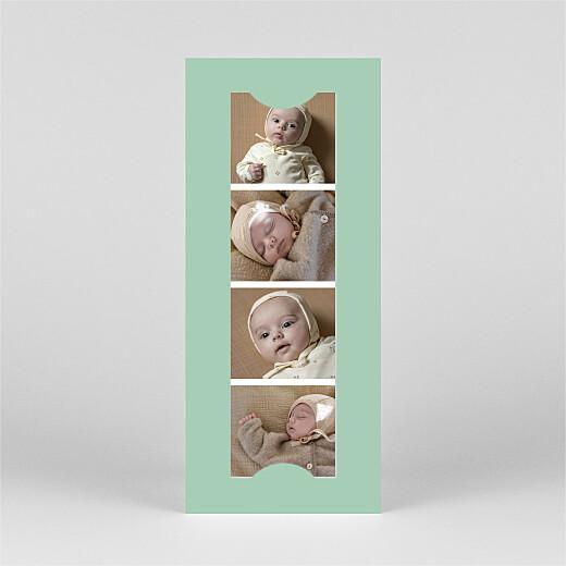 Geburtskarten Federleicht (fotostreifen) grün - Ansicht 3