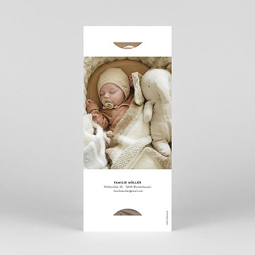 Geburtskarten Federleicht (fotostreifen) rosa - Ansicht 4