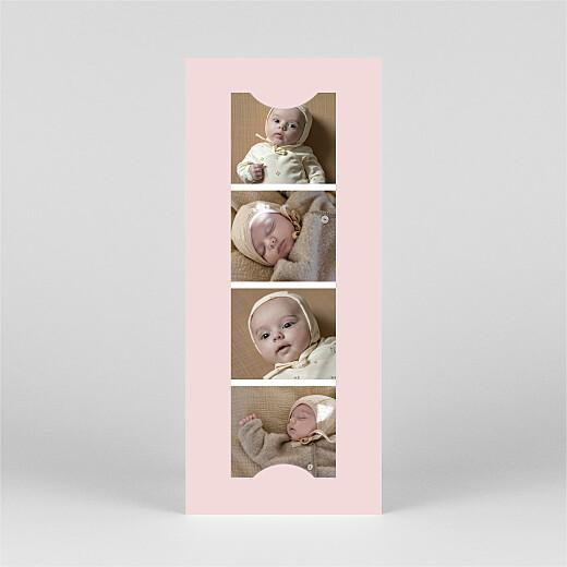 Geburtskarten Federleicht (fotostreifen) rosa - Ansicht 3