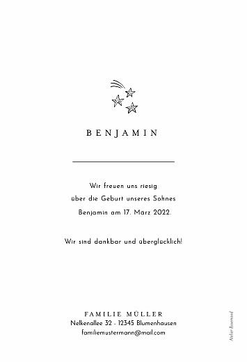 Geburtskarten Steckbrief beige - Seite 2