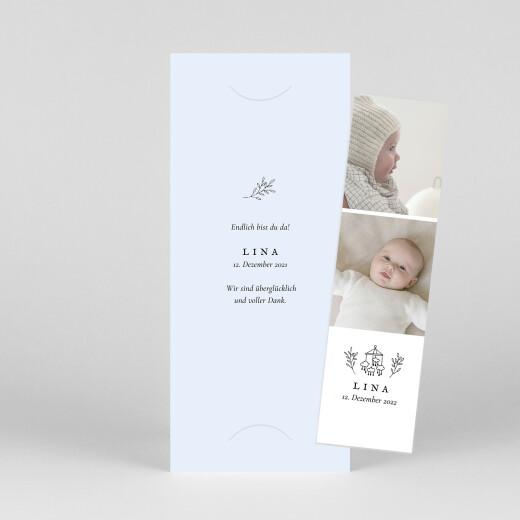 Geburtskarten Gravur (fotostreifen) blau - Ansicht 1