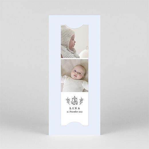 Geburtskarten Gravur (fotostreifen) blau - Ansicht 2